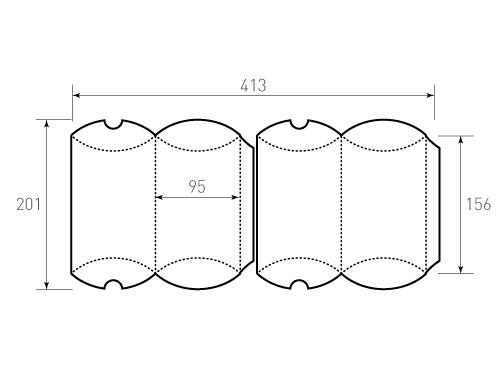 Штамп для коробки 1к Пирожок 95x156 2 штуки. Привью 500x375 пикселов