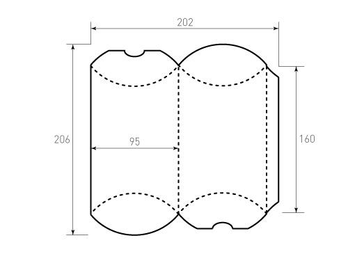 Штамп для коробки 1к Пирожок 95x160. Привью 500x375 пикселов