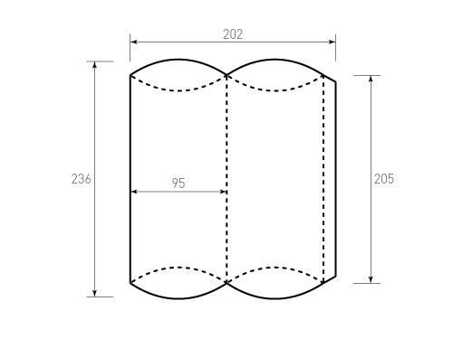 Штамп для коробки 1к Пирожок 95x205. Привью 500x375 пикселов