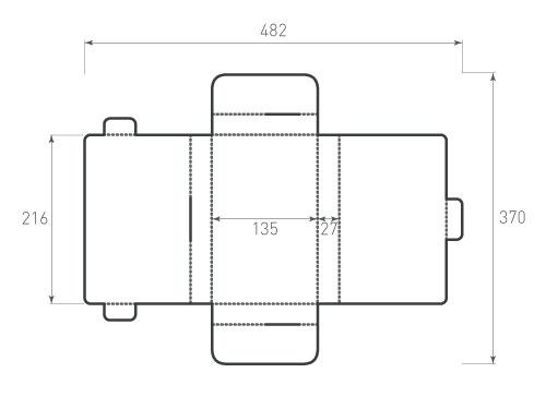 Штамп для коробки 2К 135x216x27 дирк. Привью 500x375 пикселов