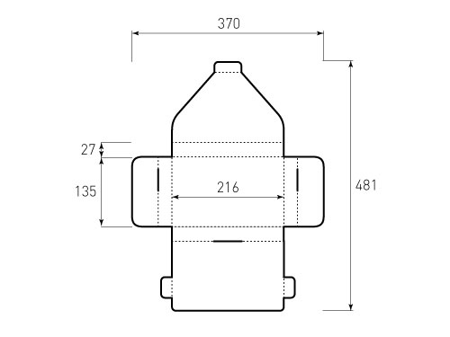 Штамп для коробки 2К 216x135x27 Хэнс. Привью 500x375 пикселов