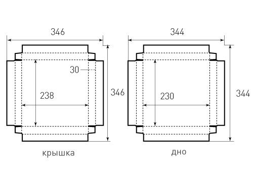 Штамп для коробки Крышка и дно с обклейкой 224x224x30. Привью 500x375 пикселов