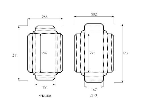 Штамп для коробки Квадратной 150x295x30. Привью 500x375 пикселов