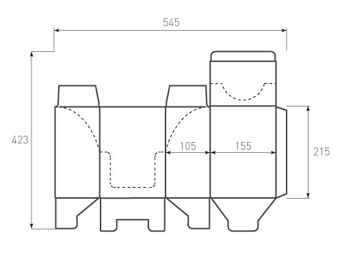 Штамп для коробки МГК 105x155x215. Привью 500x375 пикселов