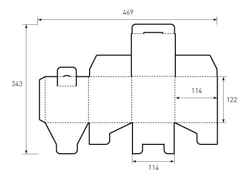 Штамп для коробки МГК 114x114x122. Привью 500x375 пикселов