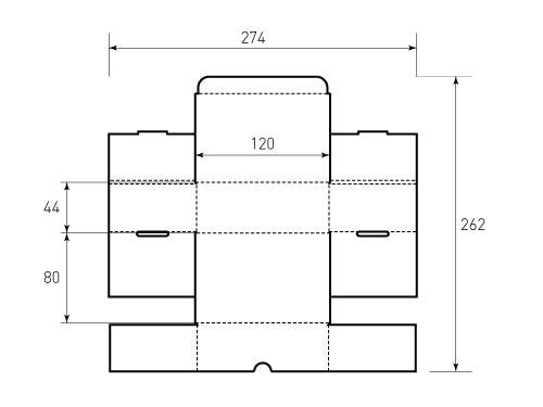 Штамп для коробки МГК 120x80x44. Привью 500x375 пикселовШтамп для коробки Box MGK 120x80x44. Привью 500x375 пикселов