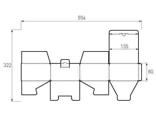 Штамп для коробки МГК 135x135x80 Спининг. Привью 500x375 пикселов
