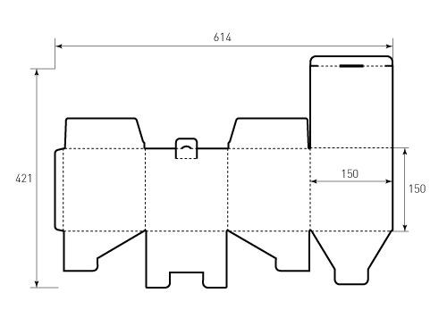 Штамп для коробки МГК 150x150x150. Привью 500x375 пикселов