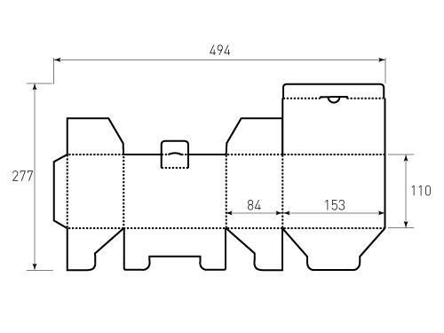 Штамп для коробки МГК 153x84x110. Привью 500x375 пикселов