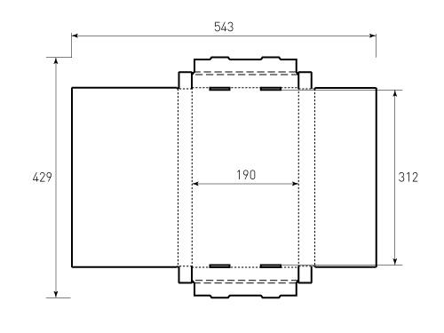 Штамп для коробки МГК 190x316x25 Птицы. Привью 500x375 пикселов