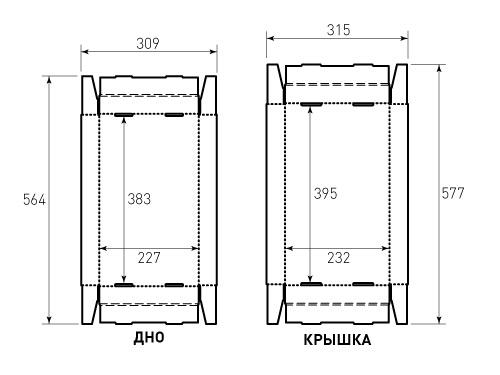 Штамп для коробки МГК 227x380x40. Привью 500x375 пикселов