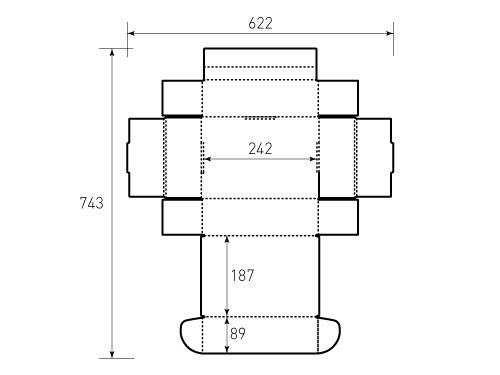 Штамп для коробки МГК 250x185x92. Привью 500x375 пикселов