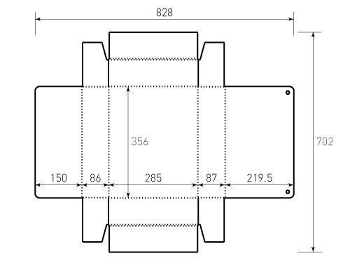 Штамп для коробки МГК 283x342x84 ВР. Привью 500x375 пикселов