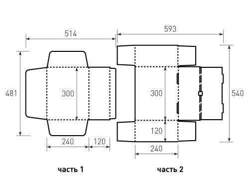 Штамп для коробки МГК 300x240x120 Лира. Привью 500x375 пикселов