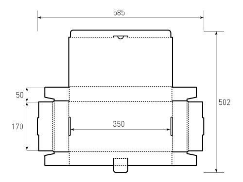 Штамп для коробки МГК 350x170x50. Привью 500x375 пикселов