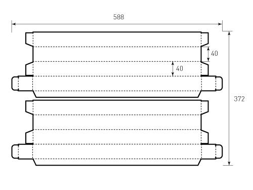 Штамп для коробки МГК 40x40x470 2 штуки. Привью 500x375 пикселов