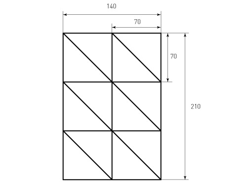 Штамп для коробки Box M 225x317x75 Treugolniki 70. Привью 500x375 пикселов