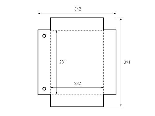 Штамп для коробки Box M 232x281x55 KAPPA. Привью 500x375 пикселов