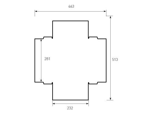 Штамп для коробки Box M 232x281x55 Lainer. Привью 500x375 пикселов