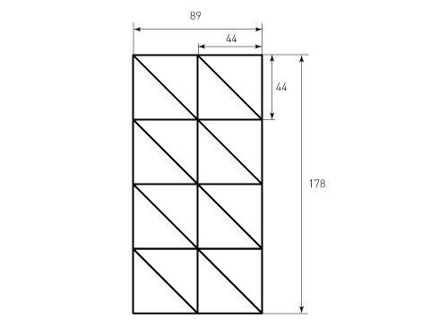 Штамп для коробки Box M 280x350x51 Triangles. Привью 500x375 пикселов