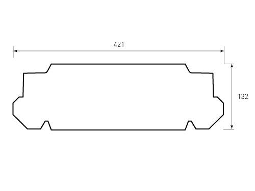 Штамп для коробки Box M 280x350x51 yxo. Привью 500x375 пикселов