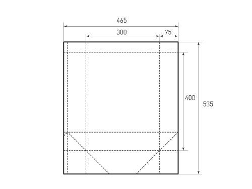 Вертикальный бумажный пакет V300-400-150. 500x375 px