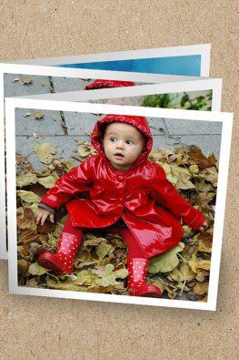 Набор открыток-гирлянд 100х100 мм (в развороте 400х100 мм) с фото из Instagram