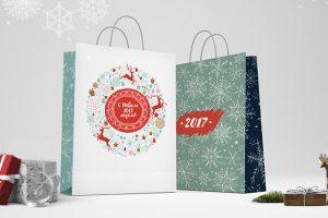 Новогодние бумажные пакеты готовы! Купить их можно в офисе типографии EGF на Шаболовке всего за 100 рублей