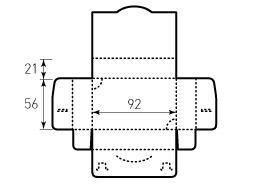 Коробка из однослойного картона 92x56x22 мм, для визиток