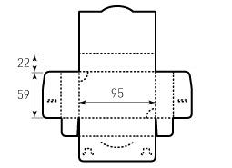 Коробка из однослойного картона 95x59x22 мм, для визиток