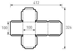 Коробка из однослойного картона 100x100x100, Кубик