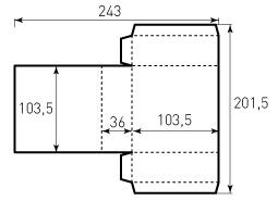 Коробка из однослойного картона 103,5x103,5x36, Версия1, ВР