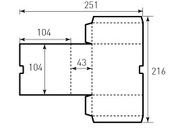 Коробка из однослойного картона 104x104x43