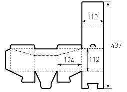 Коробка из однослойного картона 110x124x112