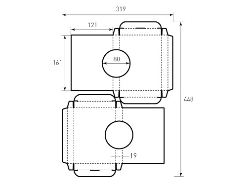 Коробка из однослойного картона 121x161x19 акустическая. Превью 500x375 пикселей