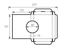 Коробка из однослойного картона 121x161x19 акустическая