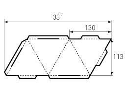 Коробка из однослойного картона 130, Пирамида