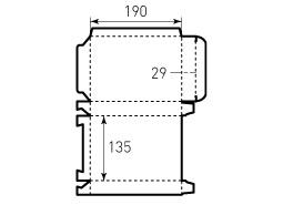 Коробка из однослойного картона 135x190x29, 4 штуки