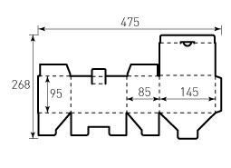 Коробка из однослойного картона 145x95x85 мм