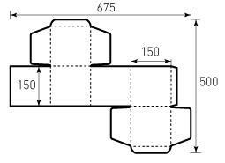 Коробка из однослойного картона 150x150x150 мм