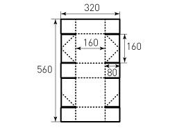 Коробка из однослойного картона 160x160x80 мм