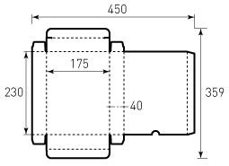 Коробка из однослойного картона 175x230x40 мм