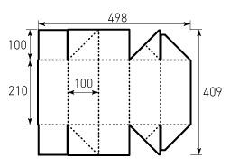 Коробка из однослойного картона 210x100x100