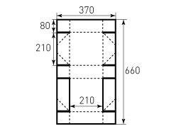 Коробка из однослойного картона 210x210x80
