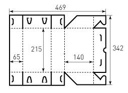 Коробка из однослойного картона 215x140x65 Баучон