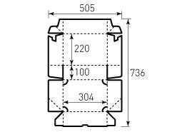 Коробка из однослойного картона 220x304x100