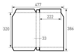 Коробка из однослойного картона 222x320x33