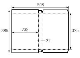 Коробка из однослойного картона 238x325x32
