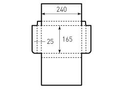 Коробка из однослойного картона 240x165x25