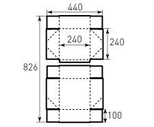 Коробка из однослойного картона 240x240x100